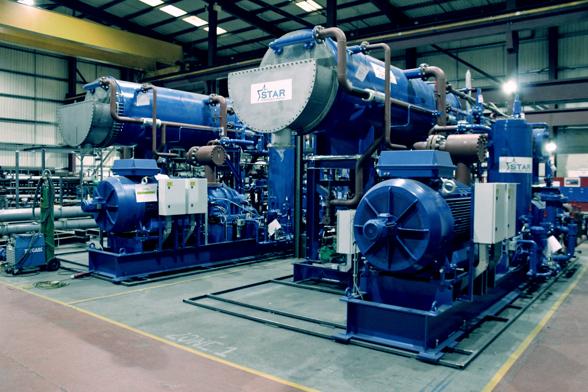 industrial heat pump maintained by star renewable energy