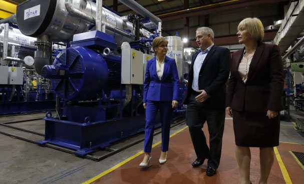 First Minister visits neat pumps