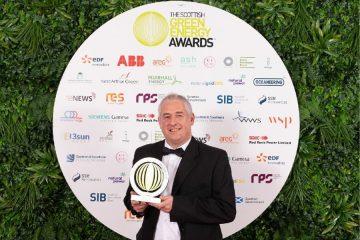 Dave Pearson with an award
